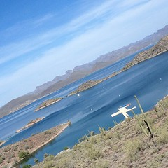 We have arrived! #lakepleasant #manmade #arizona #desert #lake #school #fieldtrip #scenery