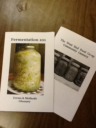 West End Food Co-op Fermentation Workshop