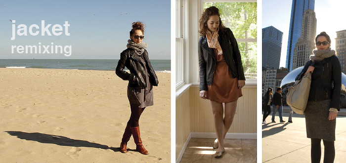 remix, closet shopping, previously on, leather jacket, michael kors, asymmetrical leather jacket, ootd, fashion blog