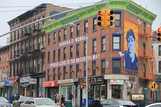 The Brooklyn Love Building at Fulton Street.