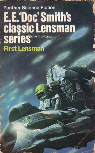 First Lensman by E.E. 'Doc' Smith. Panther 1973. Cover art Chris Foss