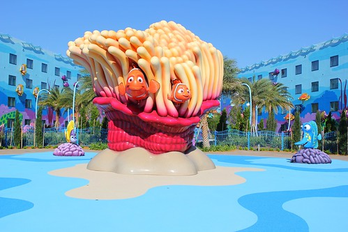 Finding Nemo water play area