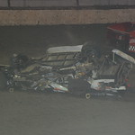 Schuyler Nahre walked away from this wrecked racecar