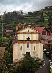 St Laurent XIII° church at Roure #France