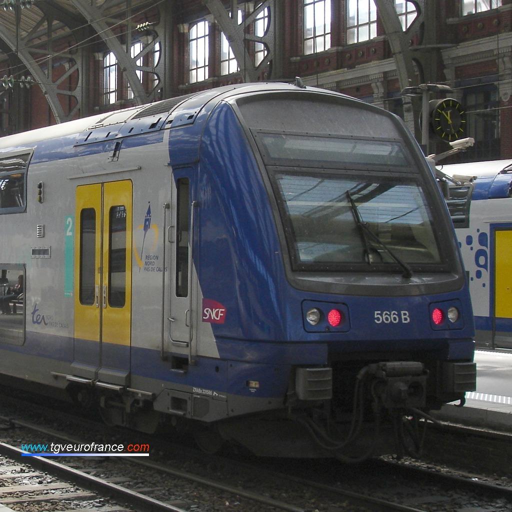 Une automotrice électrique (Z 23500 SNCF) de la Région Nord Pas-de-Calais