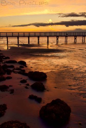 sunset gulfofmexico clouds florida pineisland bokeelia