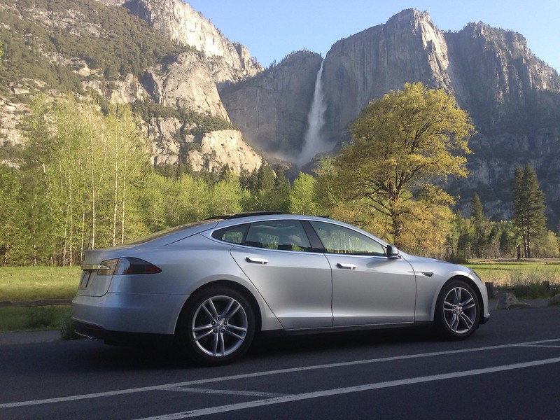 Model S in Yosemite Valley