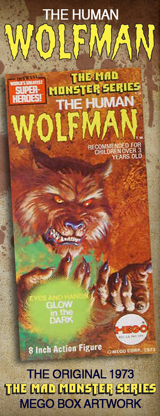 Mego Wolfman Artwork by Gray Morrow.