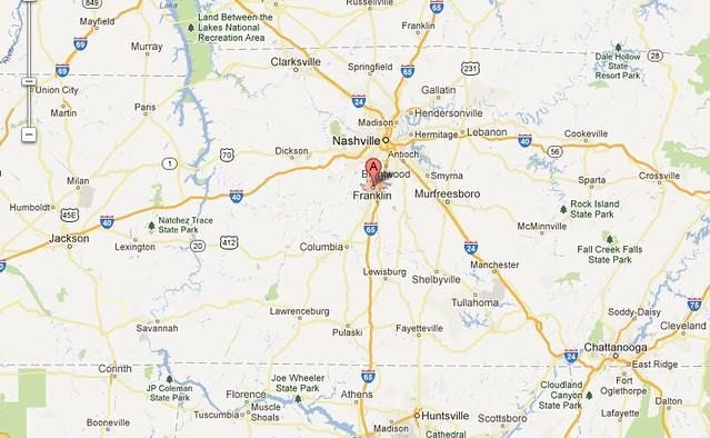 Franklin, TN Map