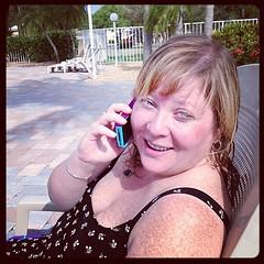 Poolside with Karen