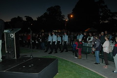 The beginning of the Dawn Service