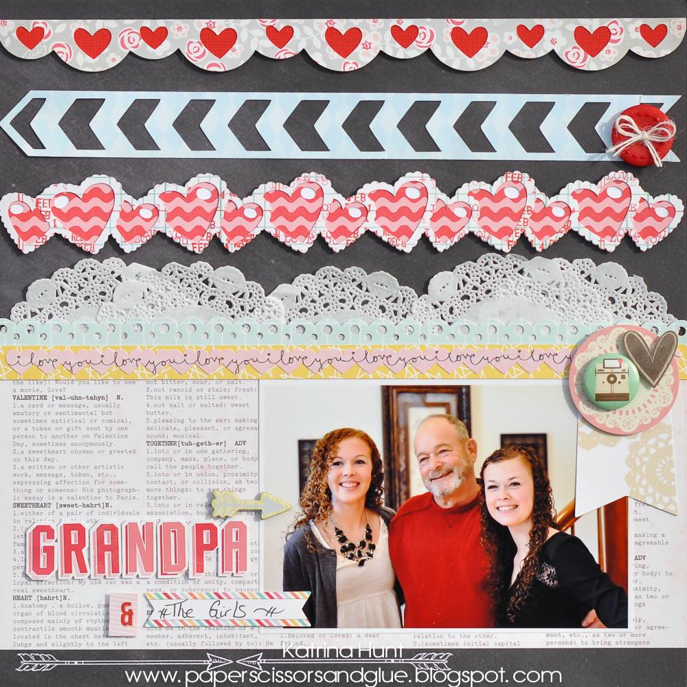 Grandpa & The Girls-Gossamer Blue February Kits