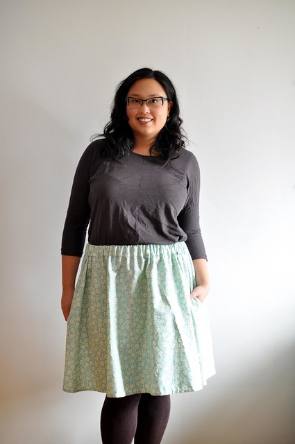 finished gathered skirt