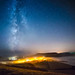 Milky Way above a Misty Chideock and Seatown by DorsetScouser