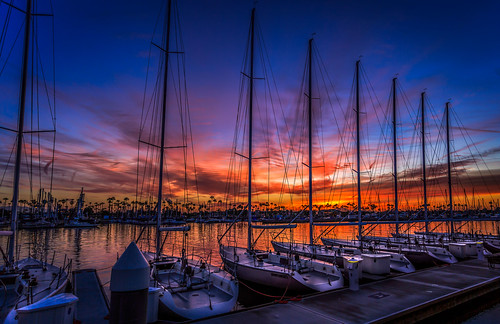 california night marina sunrise la boat yahoo losangeles downtown cloudy dusk pacificocean longbeach lightroom cs6 yahooweather nikfilter canon5dmarkiii cswapanjha