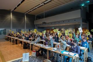 Røysting på landsmøtet i NU 2014