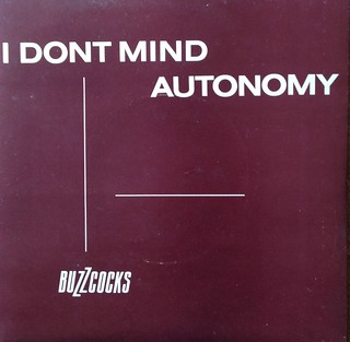 "The Buzzcocks - I Don't Mind / Autonomy 7"" Single 45 rpm Vinyl Record"