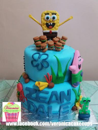 Spongebob & Patrick Cake by Veronica Joy E. Mendoza of Veronica Cakes & Cupcakes