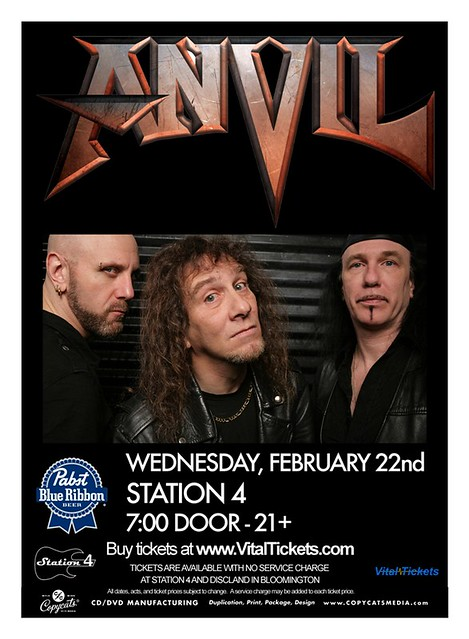 02/22/12 Anvil/ Zebulon Pike/ The Terrordactyls @ Station 4, St. Paul, MN