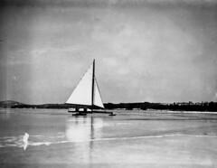 Ice boating.