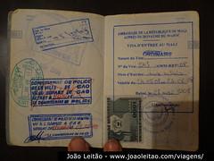 Visto do Mali no passaporte