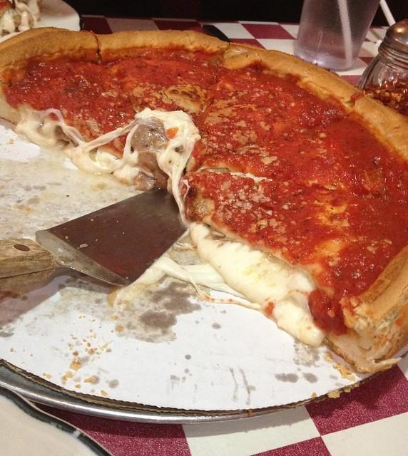 Mozzarella overload at Giordano's