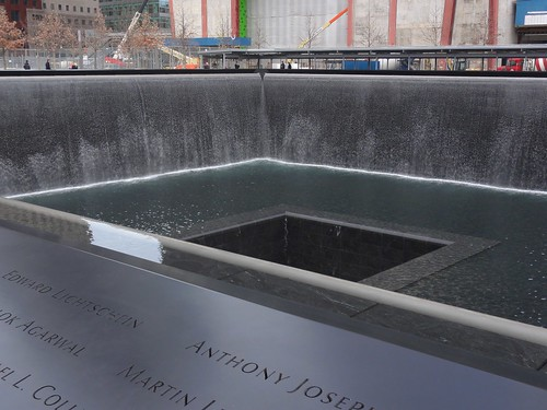 9/11 Memorial Fountain - Names