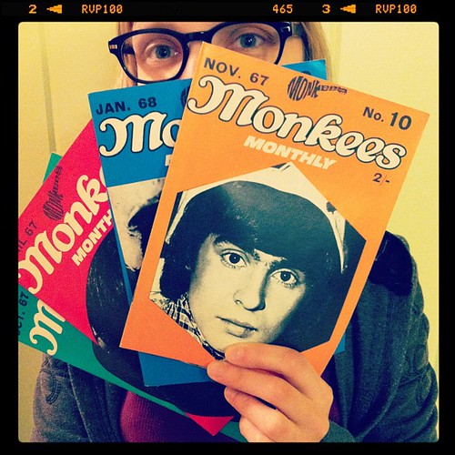 Me and my Monkees Monthly fanzines.
