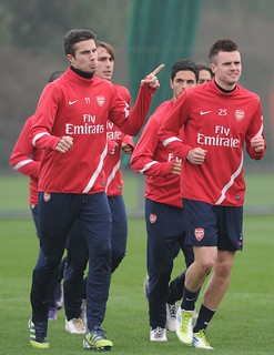 Robin van Persie and Carl Jenkinson