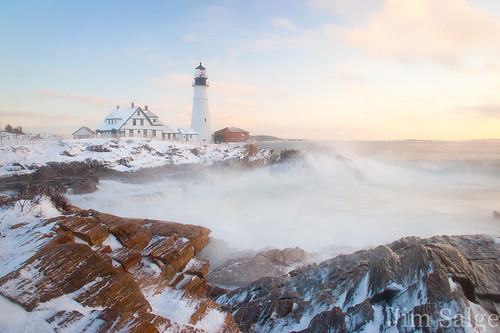 Fresh Snow at Portland Head Lighthouse...
