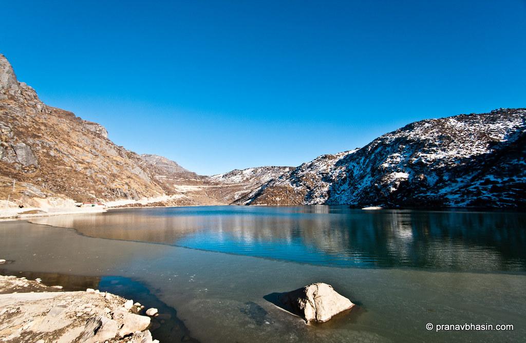 Ice Freezes Over Tsongmo Lake