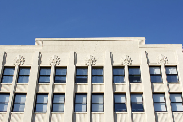 art deco facade, old pasadena los angeles