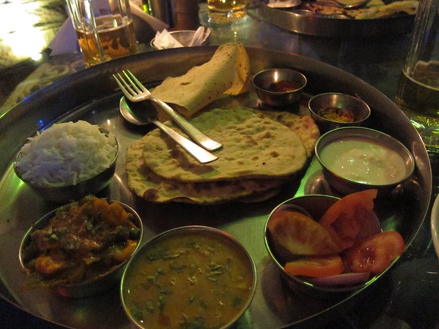 Thali #4, from a Restaurant with a View of the Jodhpur Fort