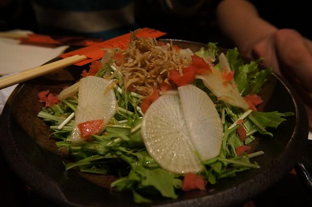 桜海老と郷土漬物のサラダ