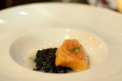 Salmon, squid and ink