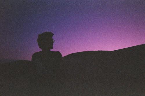 無料写真素材, 人物, 男性, シルエット, 紫色・パープル