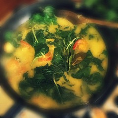 Silverbeet is to replace cassava leaves. My favourite curry of my childhood. Yes, I'm homesick again!