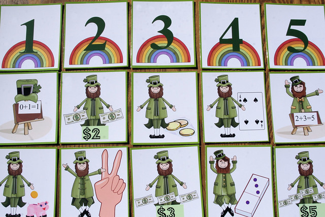 St. Patrick's Day Number Names Match