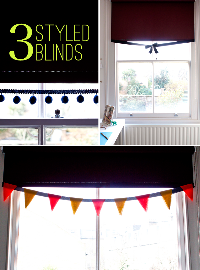 3 Styled Blinds DIY for Poppytalk Blog