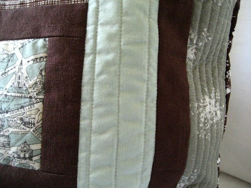 log cabin quilting detail