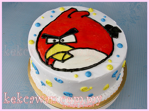 Angry Bird Drawing Cake