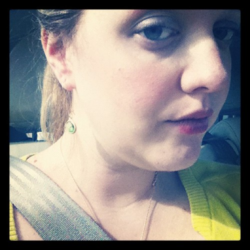 #Green cardigan & earrings on a day trip to Waco {Day 17} #marchphotoaday
