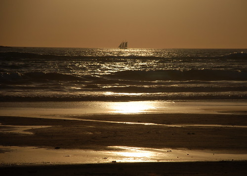 sunset reflection beach costarica ship horizon sails centralamerica 2012 guanacaste playagrande ©brianedwardanderson
