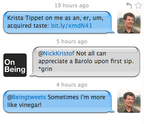Twitter Conversation with Nicholas Kristof