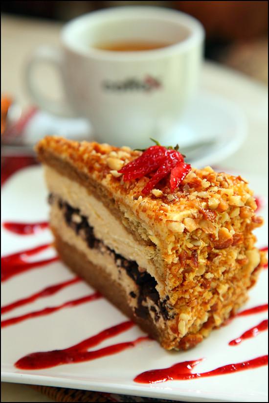 Top Hat tiramisu-cake