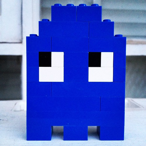Blue Lego Ghost by TUTUcrazy