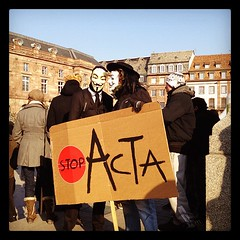 Anti-ACTA demonstration in Strasbourg