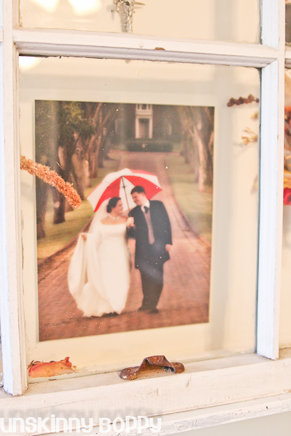old wooden window wedding idea