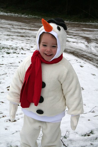 blije sneeuwman