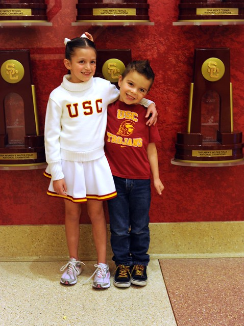 The kids at the USC v. Stanford Basketball Game